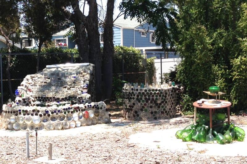 NO. 939  GRANDMA PRISBREY'S BOTTLE VILLAGE - Fountains