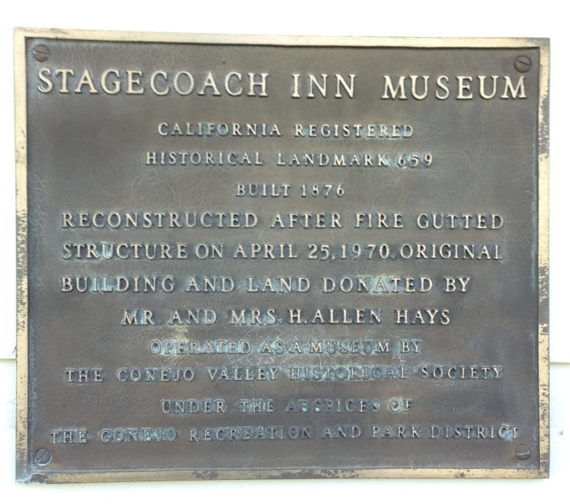 NO. 659 STAGECOACH INN - Private Plaque
