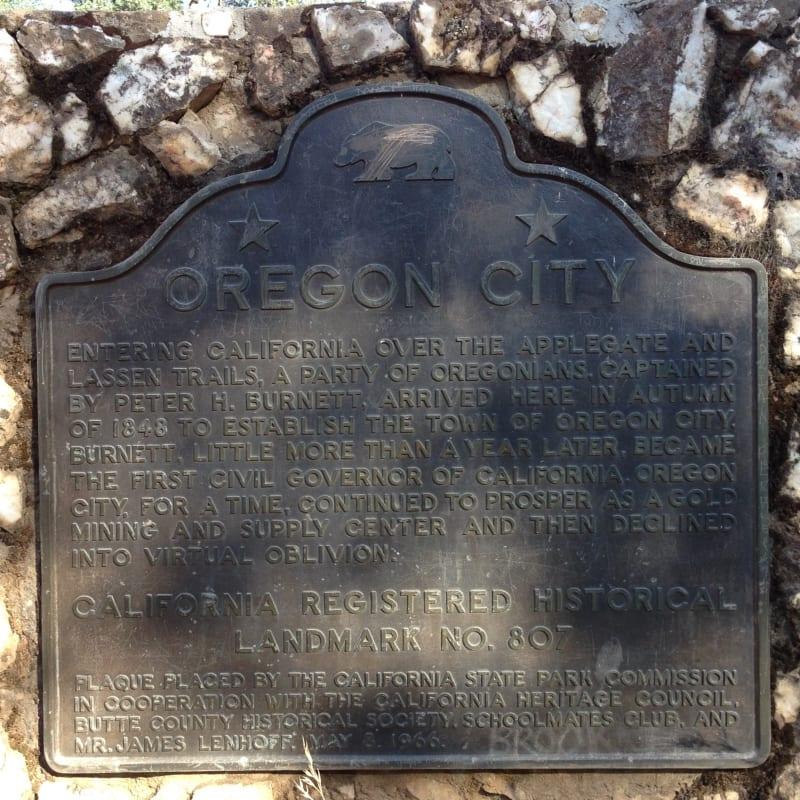 NO. 807 OREGON CITY - State Plaque