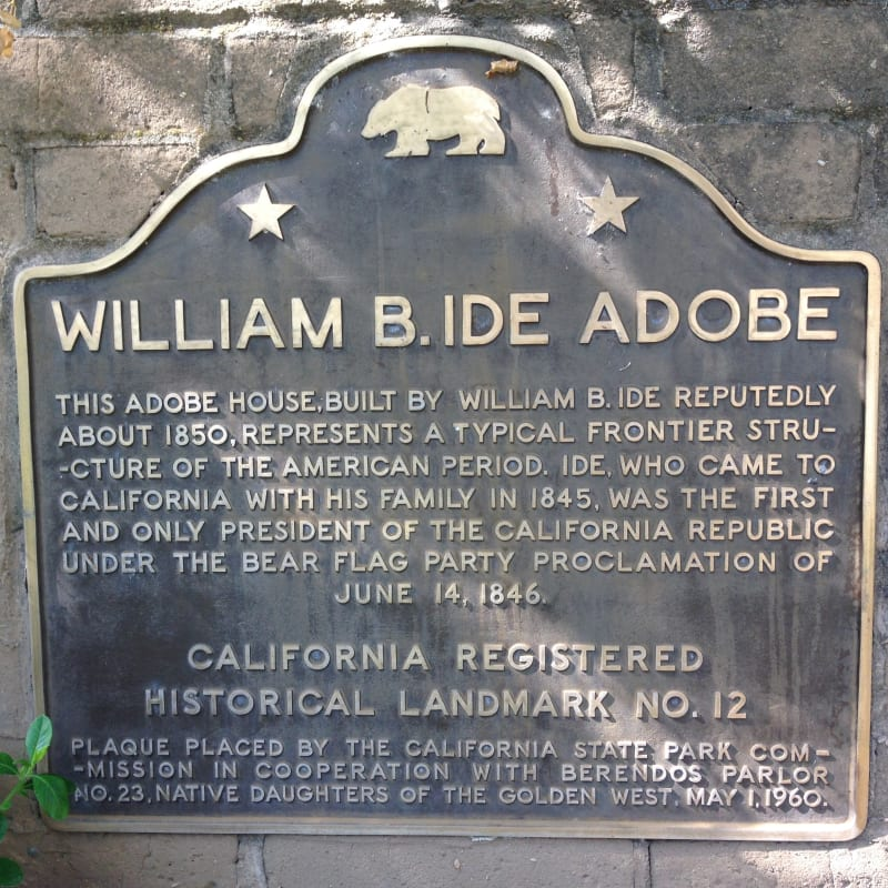 NO. 12 RESIDENCE OF GENERAL WILLIAM B. IDE - State Plaque