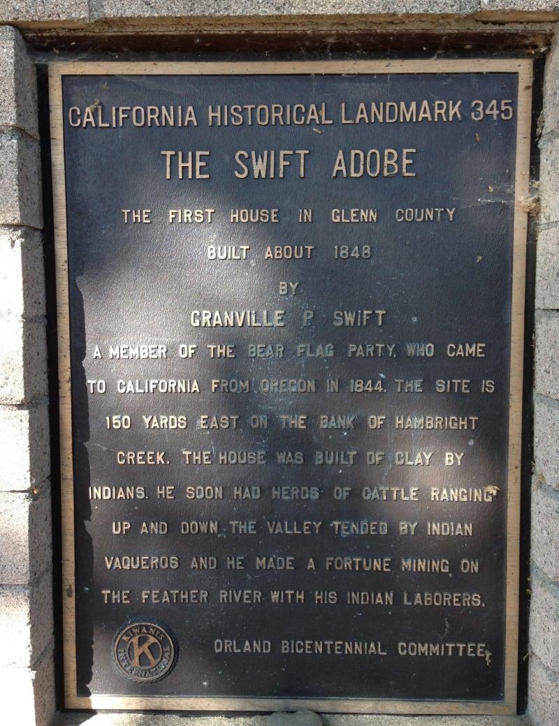 NO. 345 GRANVILLE P. SWIFT ADOBE - Private Plaque