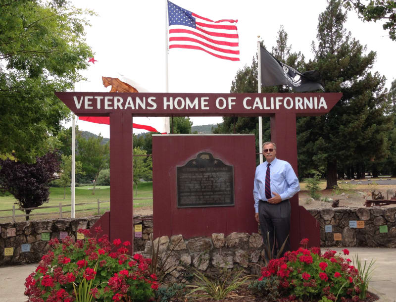 NO. 828 VETERANS HOME OF CALIFORNIA - Marker