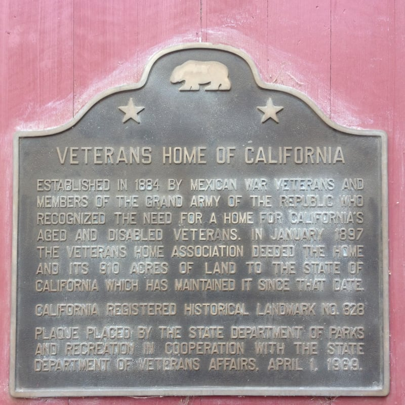 NO. 828 VETERANS HOME OF CALIFORNIA - State Plaque