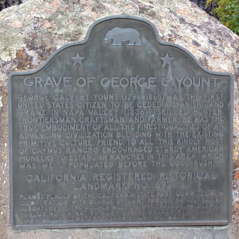 NO. 693 GRAVE OF GEORGE C. YOUNT - State Plaque