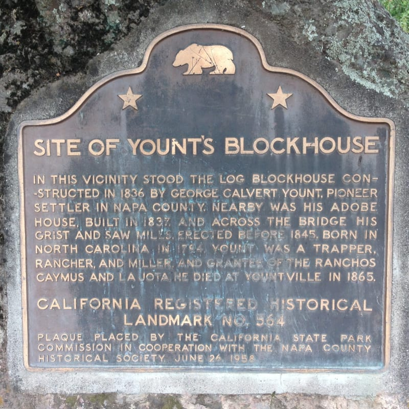 NO. 564 GEORGE YOUNT BLOCKHOUSE - State Plaque