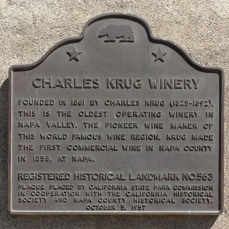 NO. 563 CHARLES KRUG WINERY - State Plaque