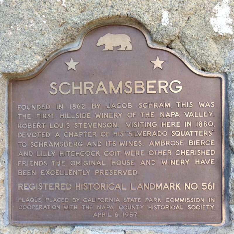 NO. 561 SCHRAMSBERG - State Plaque