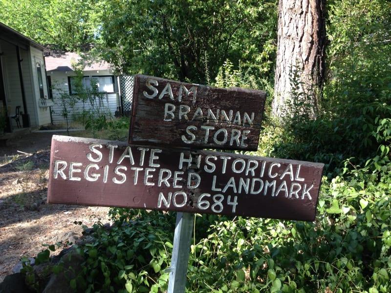 NO. 684 SAM BRANNAN STORE, CALISTOGA - Private Sign