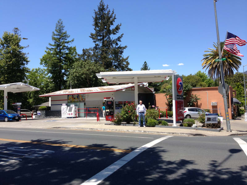 NO. 683 SITE OF HUDSON CABIN, (Now a Union 76 Gas Station)