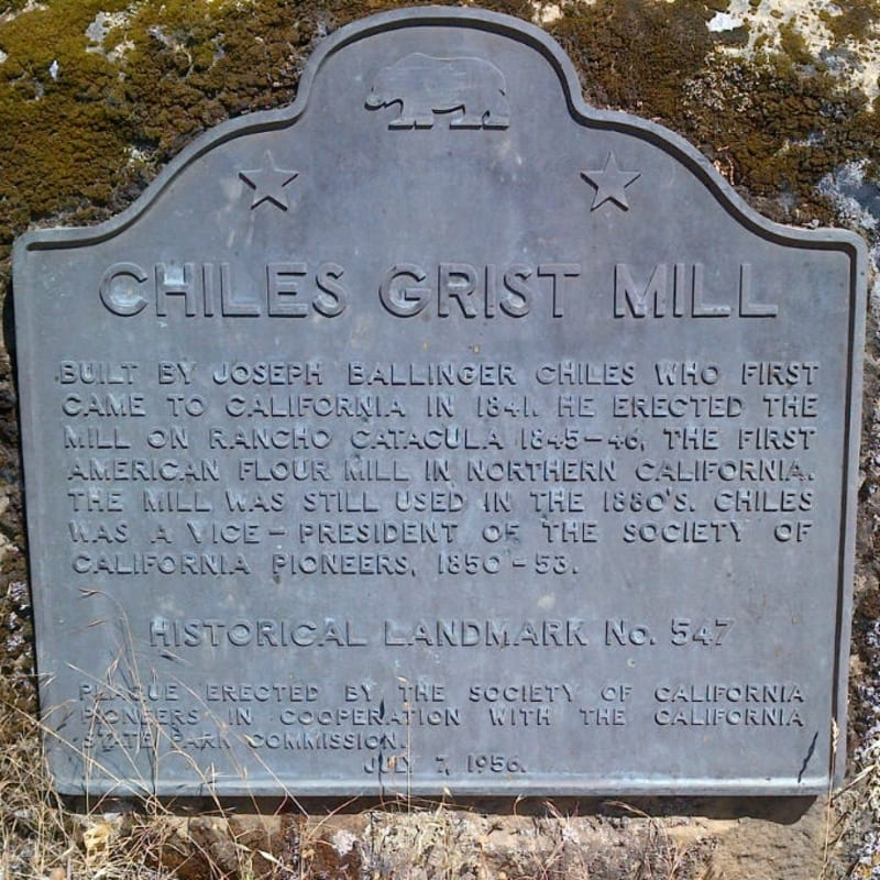 NO. 547 CHILES MILL - State Plaque