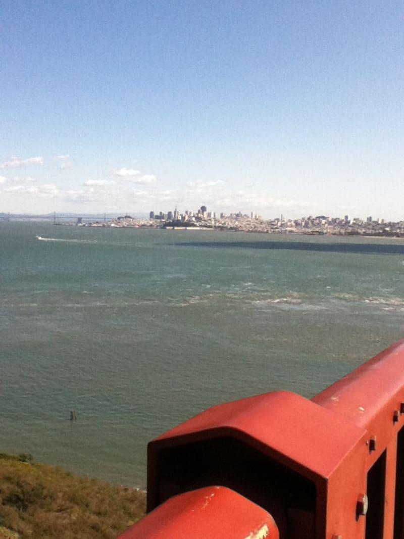 NO. 974 GOLDEN GATE BRIDGE - North End, looking at San Francisco