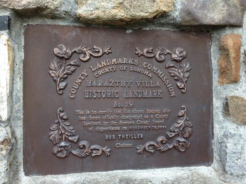 NO. 392-1 SITE OF HARASZTHY VILLA - County Plaque