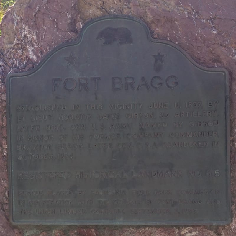 NO. 615 FORT BRAGG - State Plaque