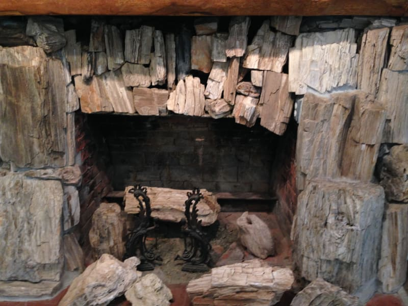 NO. 915 PETRIFIED FOREST - Fireplace out of petrified wood