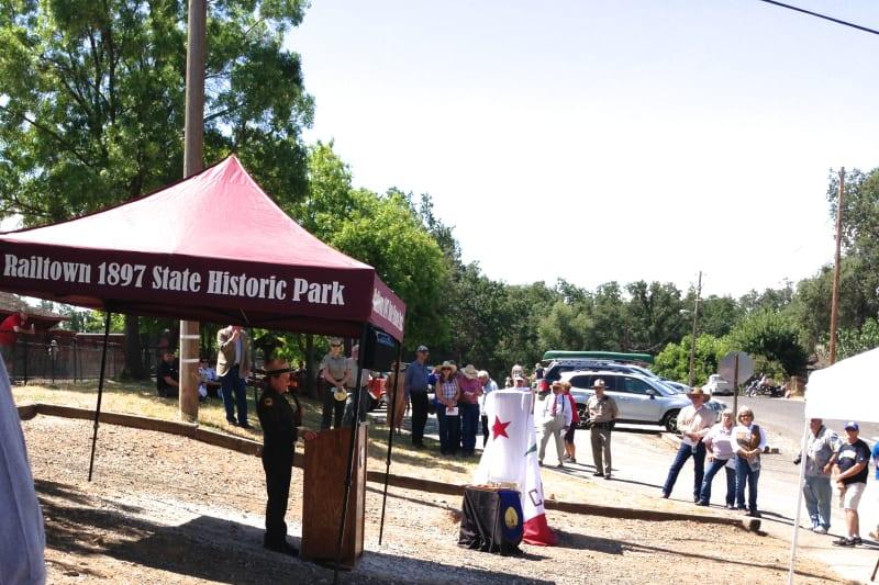 No. 1053 Sierra Railway Shops - Kim Baker, State Park Regional Superintendent
