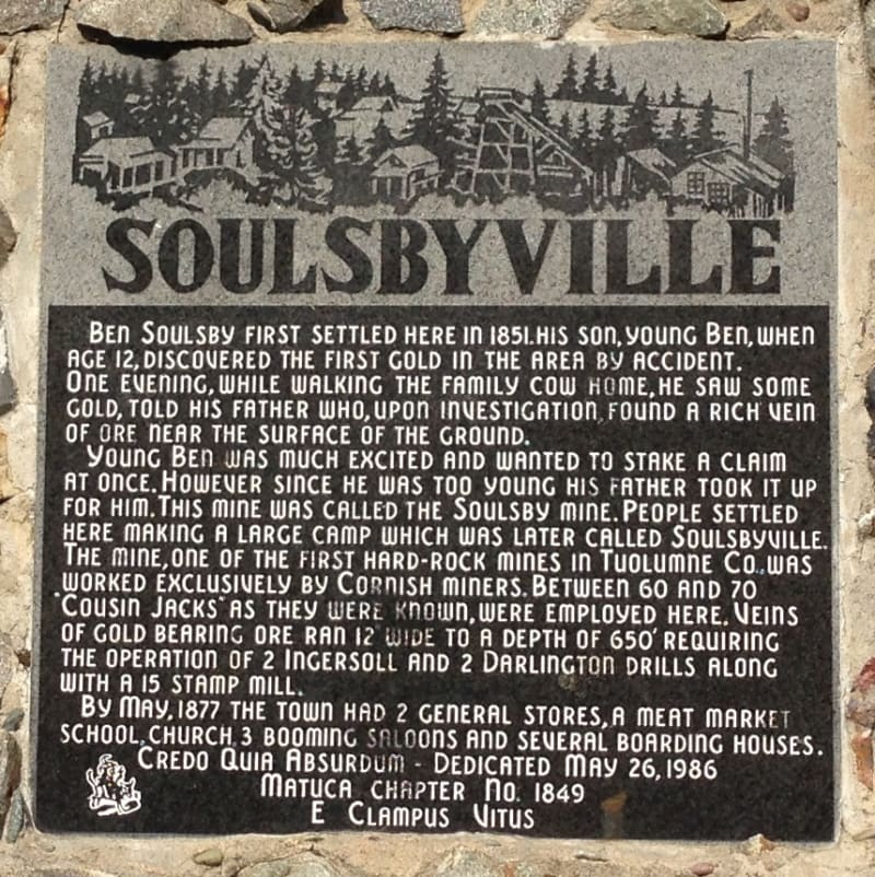 NO. 420 SOULSBYVILLE - Private Plaque