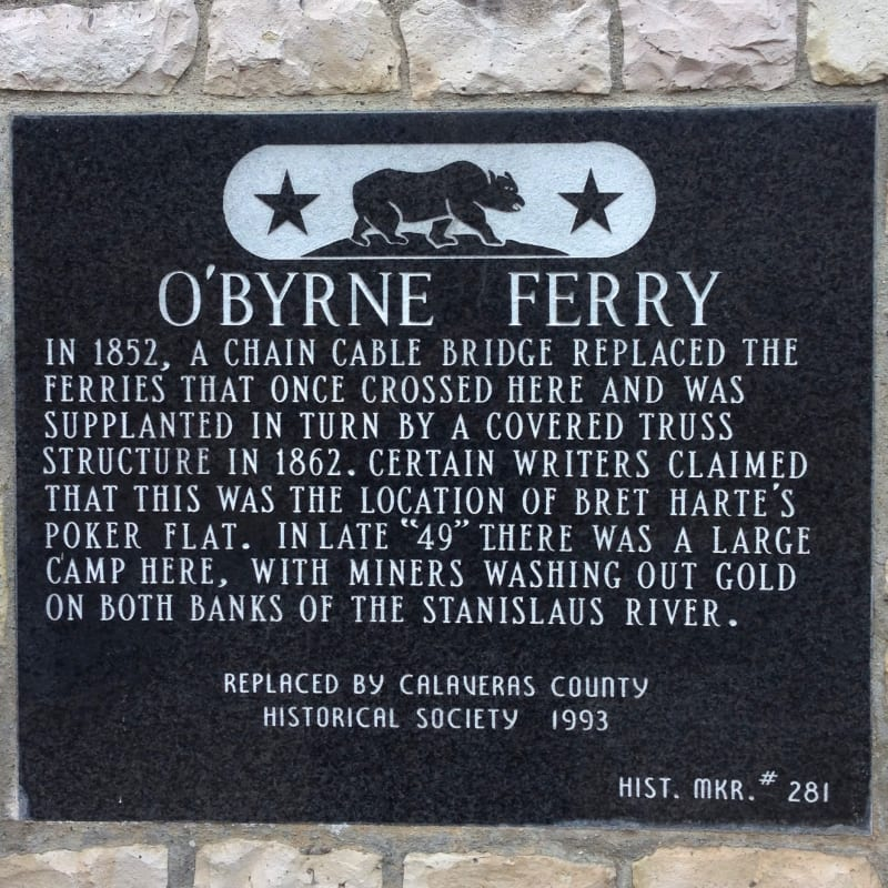NO. 281 O'BYRNE FERRY - State Plaque