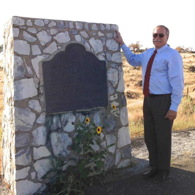 NO. 347 KNIGHTS FERRY - Marker, North side of CA-120, .3 miles NE of Willms Rd.