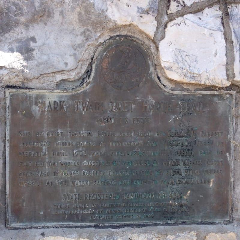NO. 438 PARROTT'S FERRY - State Plaque