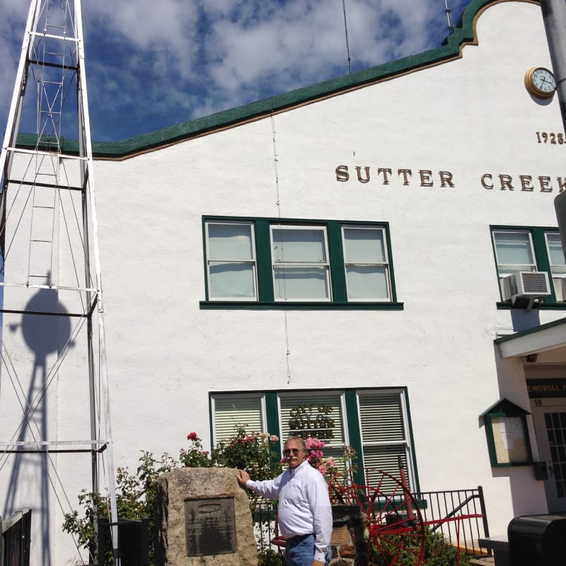 NO. 322 SUTTER CREEK - Marker in front of Sutter Creek Auditorim