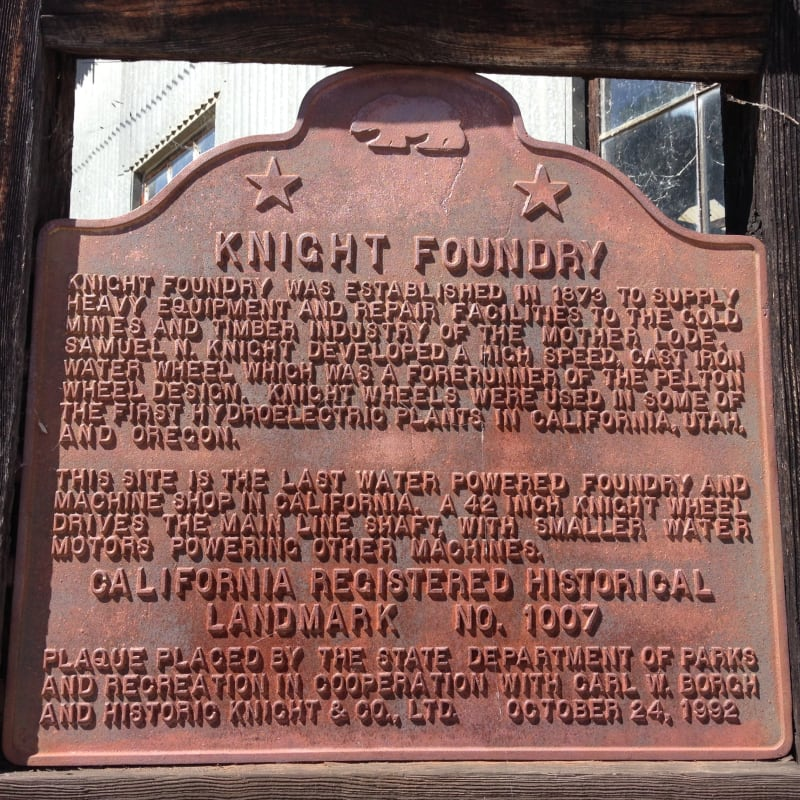NO. 1007 KNIGHT FOUNDRY - State Plaque