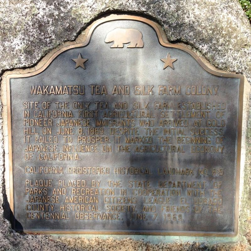 NO. 815 WAKAMATSU TEA AND SILK FARM COLONY -State Plaque