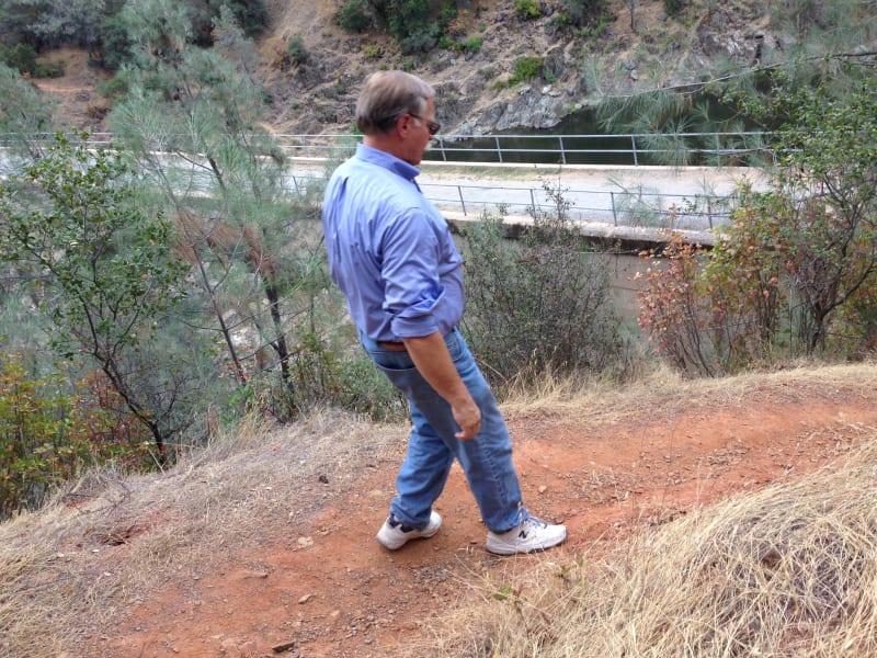 No. 1051 Mountain Quarries Railroad Bridge - Trail to bridge (Placer Trail)