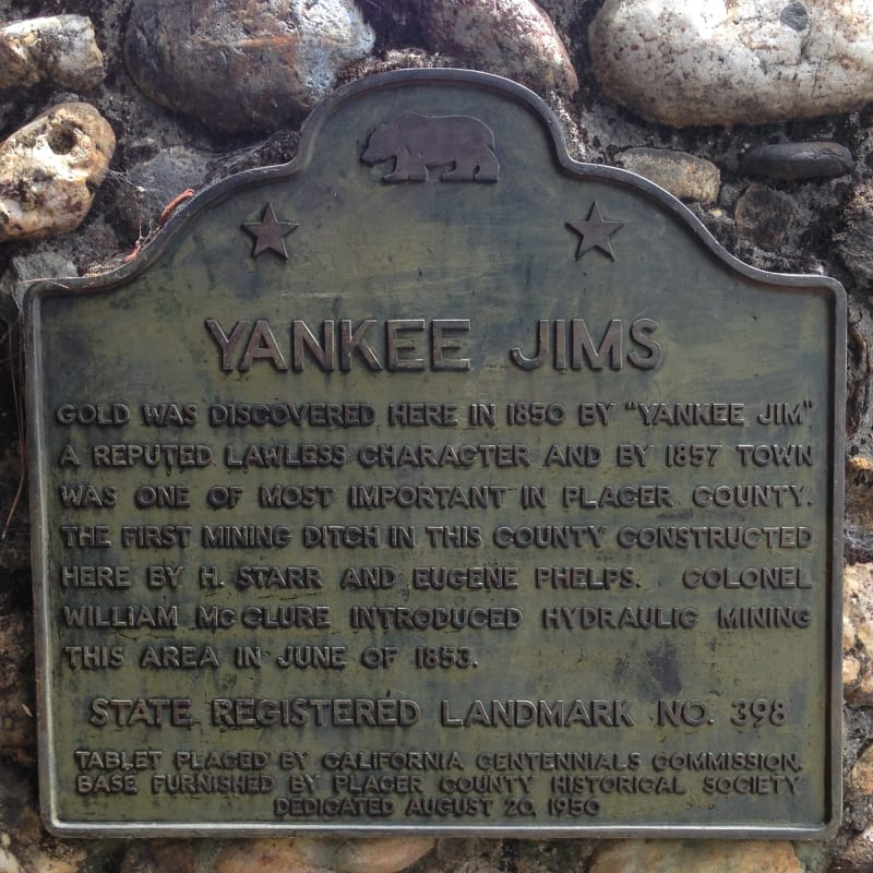 NO. 398 YANKEE JIM'S - State Plaque