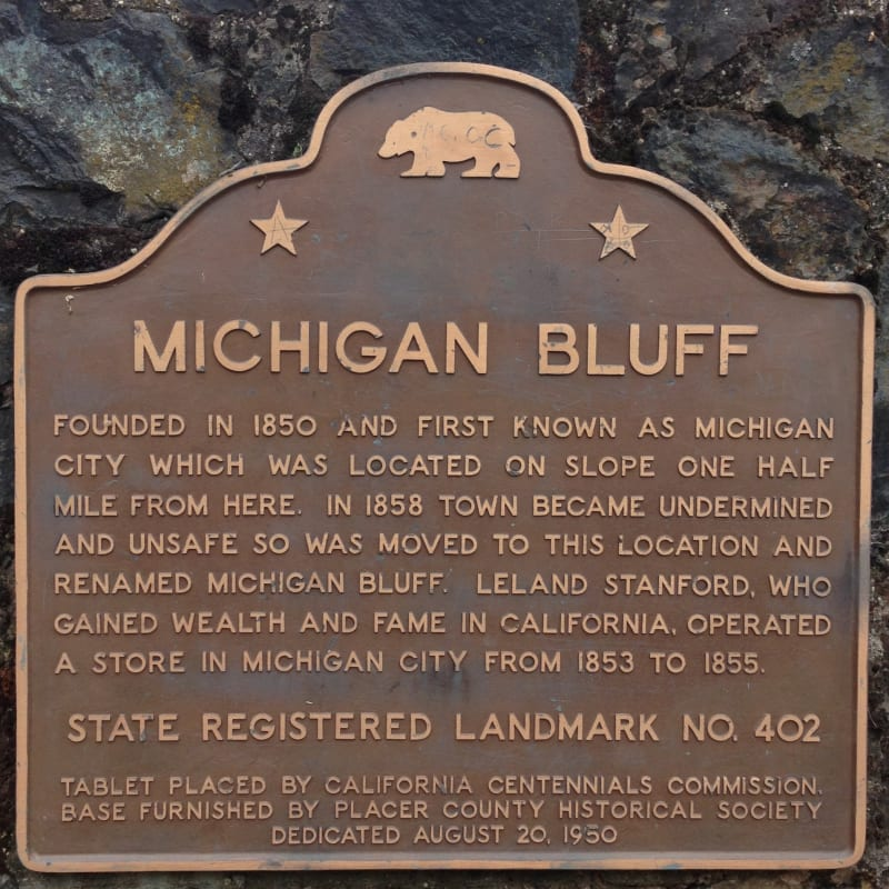 NO. 402 TOWN OF MICHIGAN BLUFF - Marker