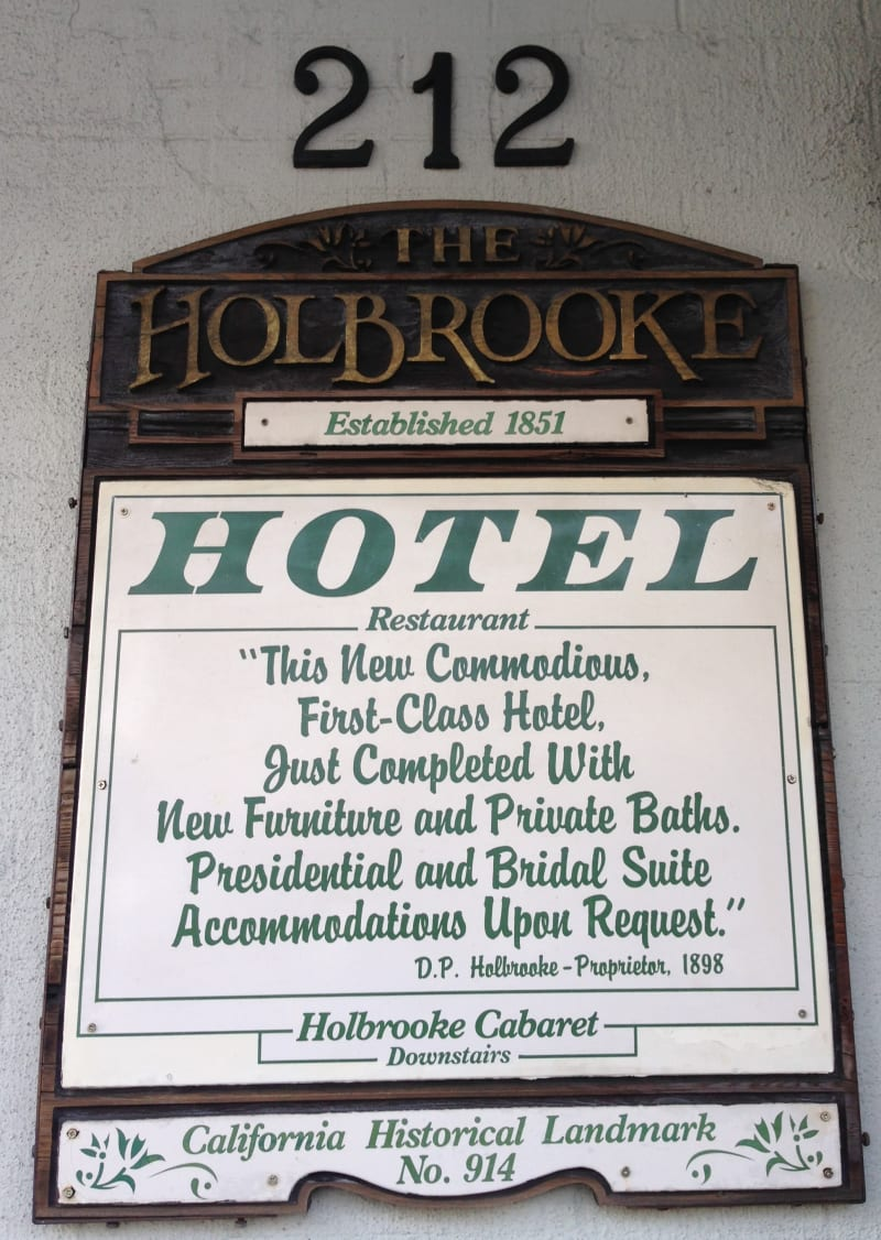 NO. 914 HOLBROOKE HOTEL - Hotel Sign