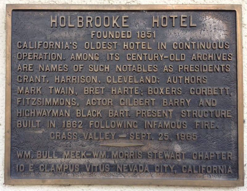 NO. 914 HOLBROOKE HOTEL - Private Plaque