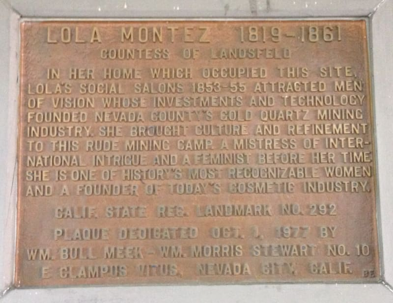 NO. 292 HOME OF LOLA MONTEZ -