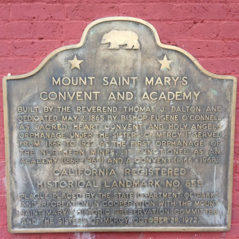 NO. 855 MOUNT SAINT MARY'S CONVENT AND ACADEMY - State Plaque