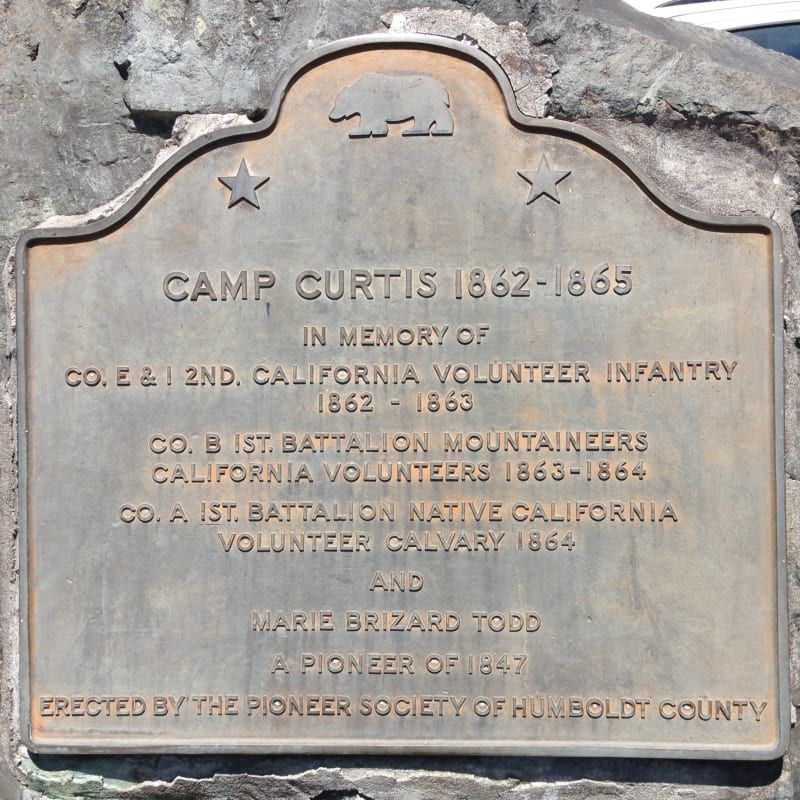 NO. 215 CAMP CURTIS - State Plaque