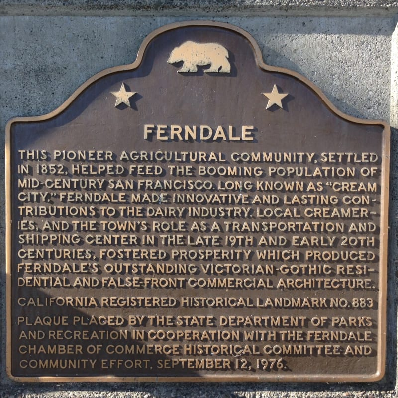 NO. 883 FERNDALE - State Plaque