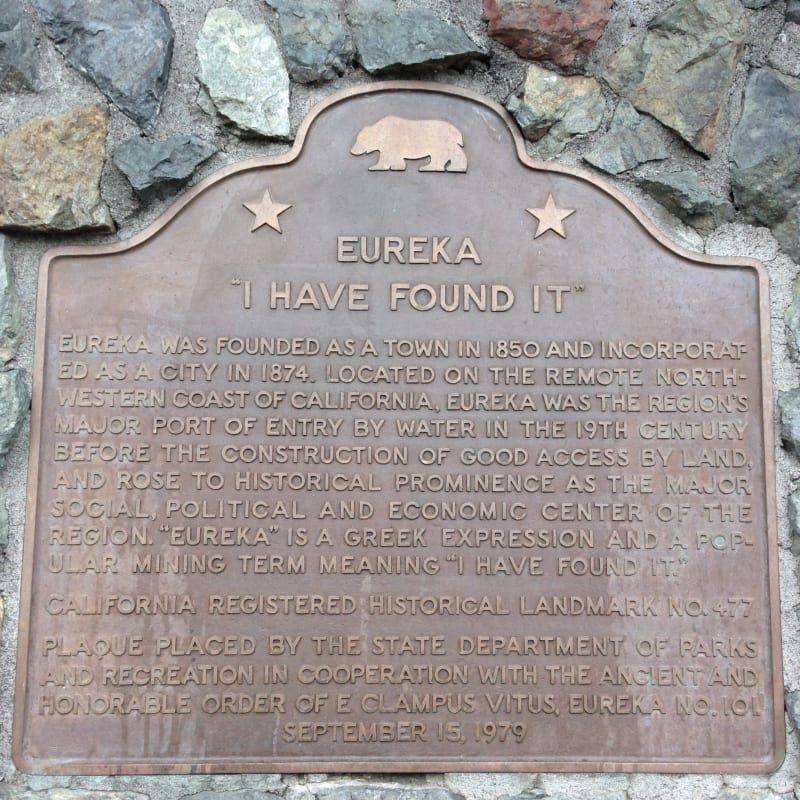 NO. 477 CITY OF EUREKA - State Plaque