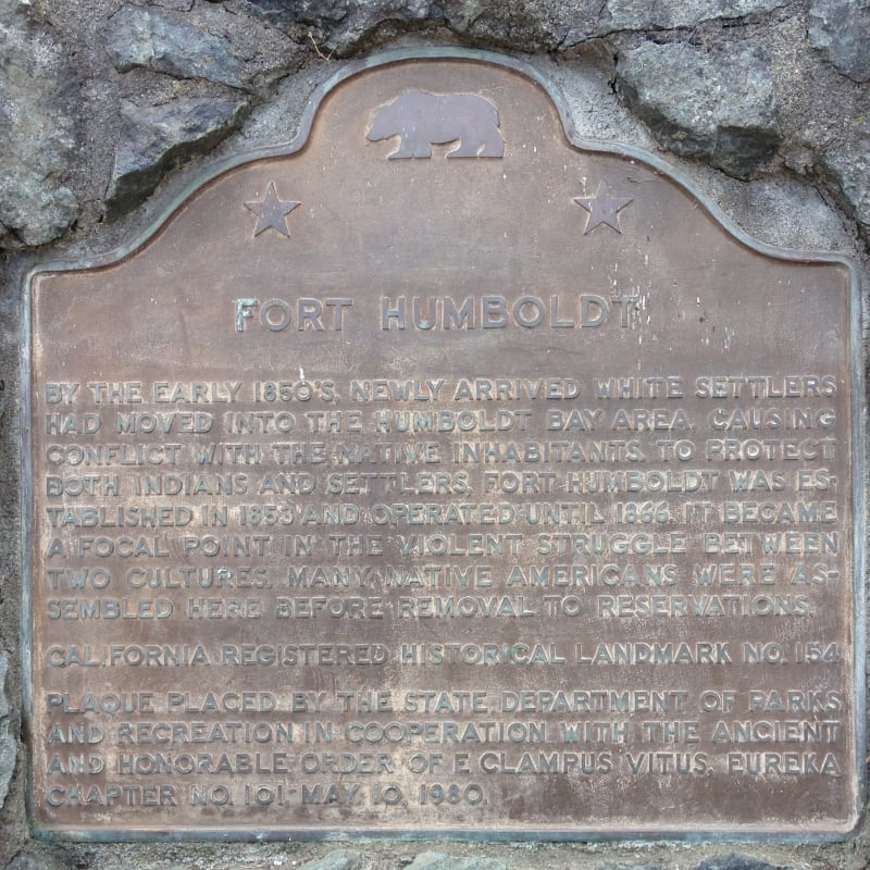 NO. 154 FORT HUMBOLDT - State Plaque