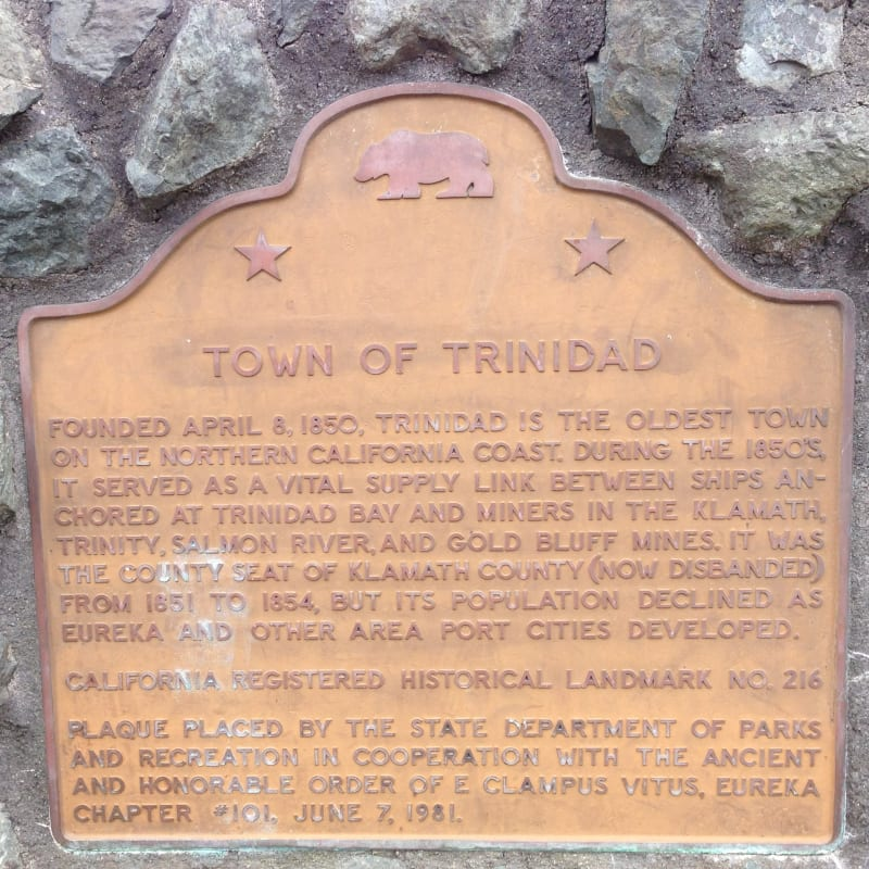 NO. 216 TOWN OF TRINIDAD - State Plaque