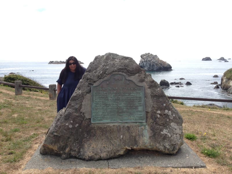 NO. 649 SITE OF OLD INDIAN VILLAGE AT PEBBLE BEACH - Marker