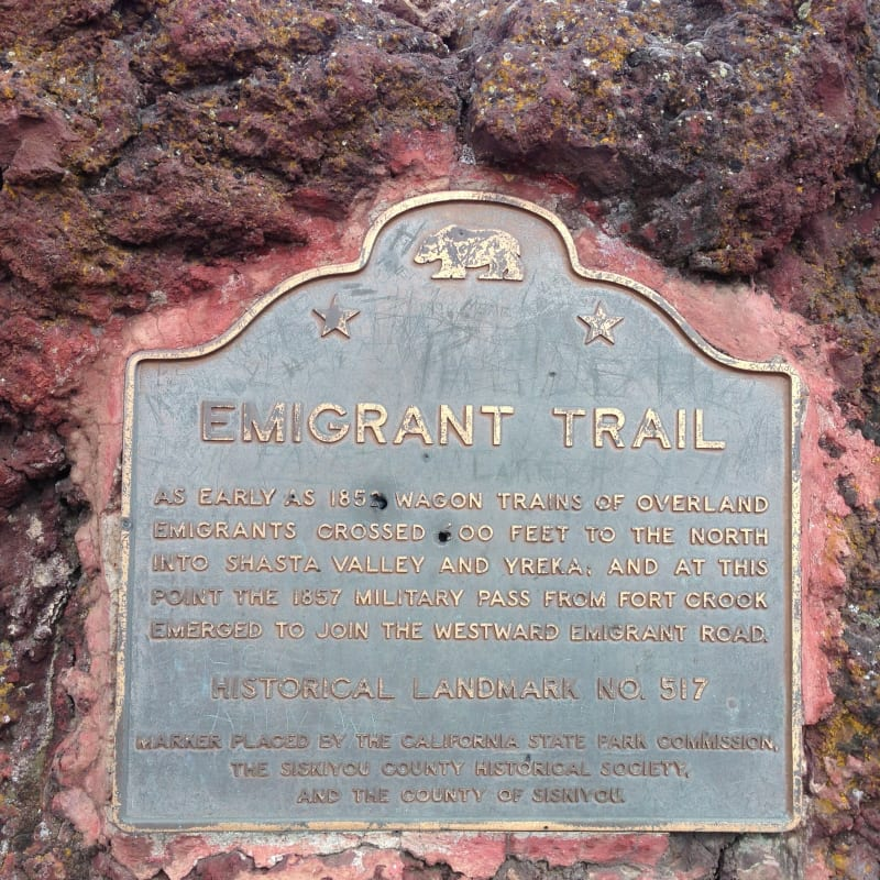 NO. 517 EMIGRANT TRAIL CROSSING OF PRESENT HIGHWAY - State Plaque