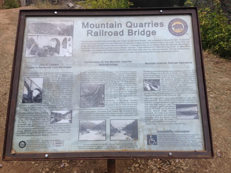 No. 1051 Mountain Quarries Railroad Bridge - (Placer)