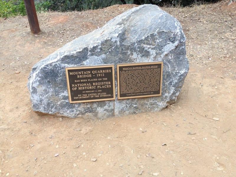 No. 1051 Mountain Quarries Railroad Bridge - National Plaque (Placer)