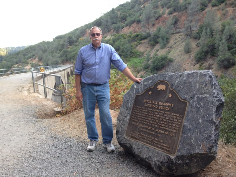 No. 1051 Mountain Quarries Railroad Bridge - Marker (El Dorado)