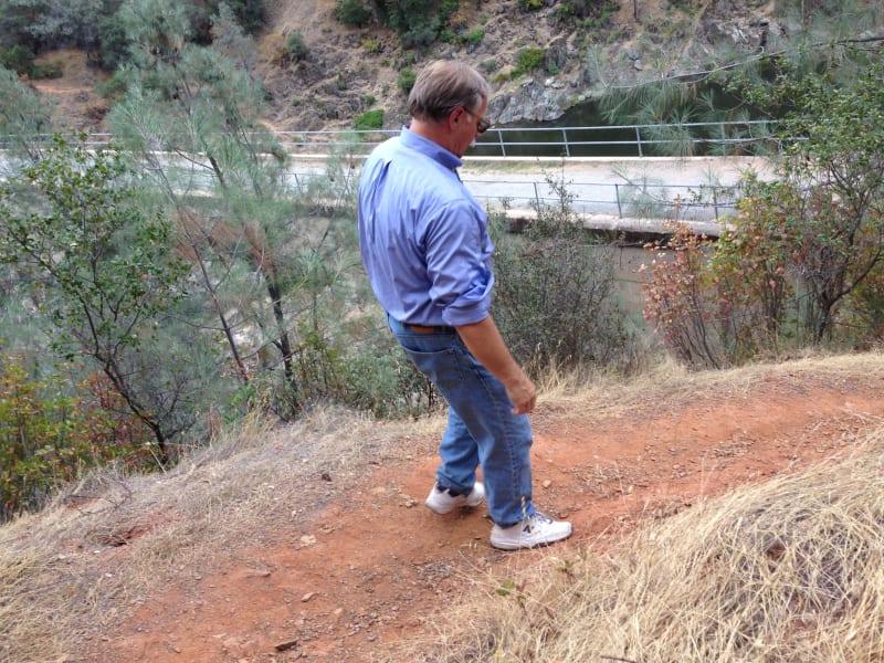 No. 1051 Mountain Quarries Railroad Bridge - Trail to bridge  (Placer side)