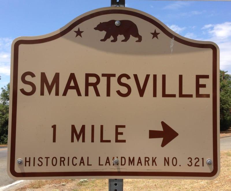 NO. 321 SMARTSVILLE - State Street Sign