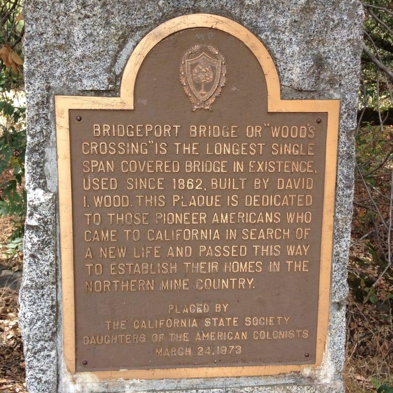 NO. 390 BRIDGEPORT (NYES CROSSING) COVERED BRIDGE - Private Plaque