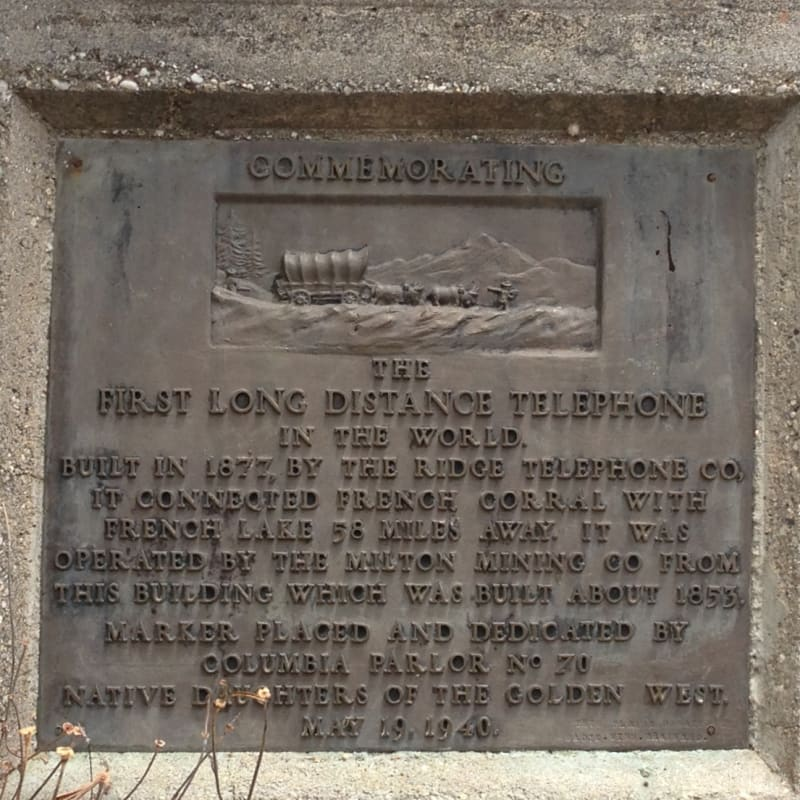 NO. 247 THE WORLD'S FIRST LONG-DISTANCE TELEPHONE LINE - Private Plaque