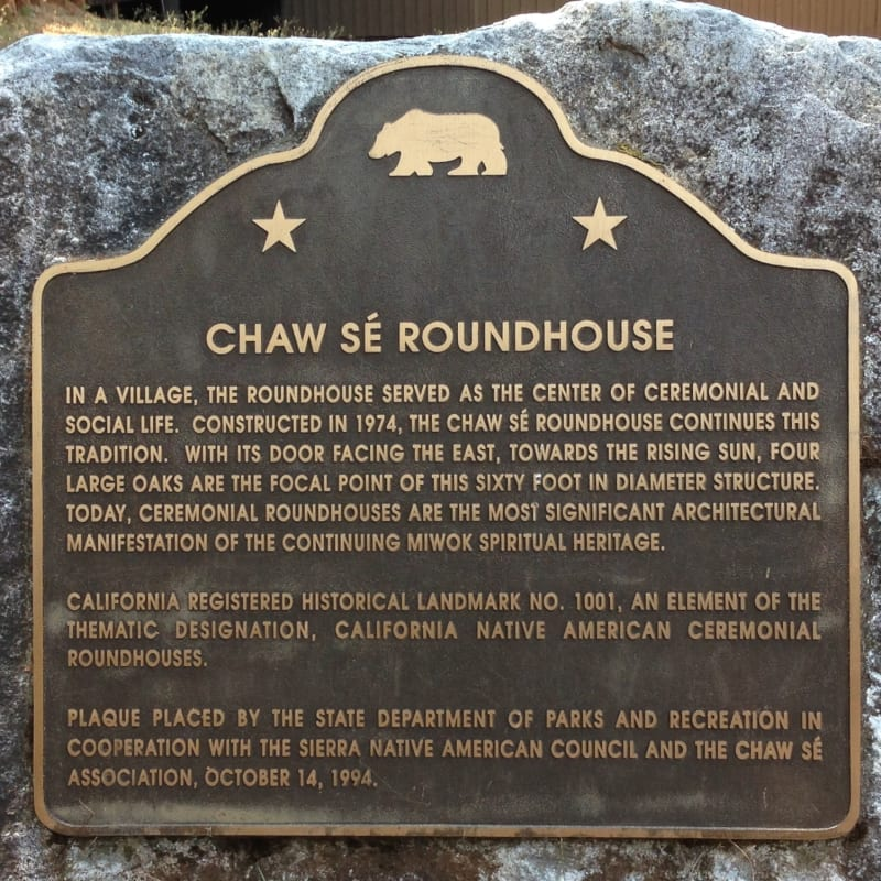 NO. 1001  CHAW SE' ROUNDHOUSE - State Plaque