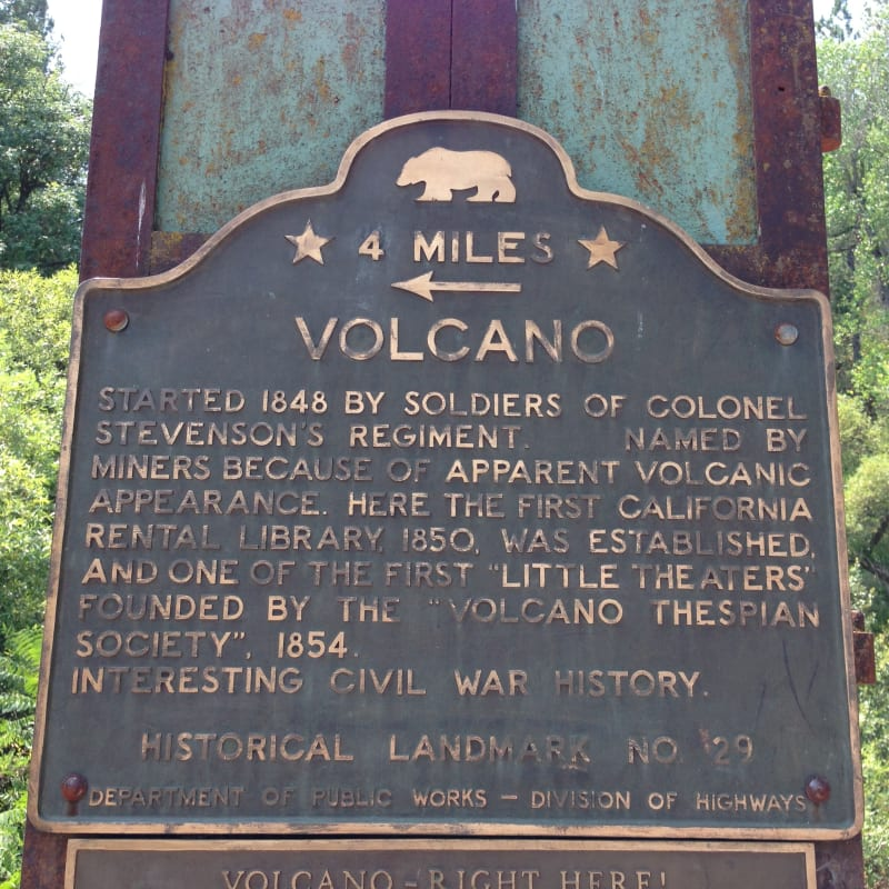 NO. 29 VOLCANO - State Plaque