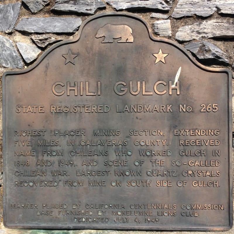 NO. 265 CHILI GULCH - State Plaque